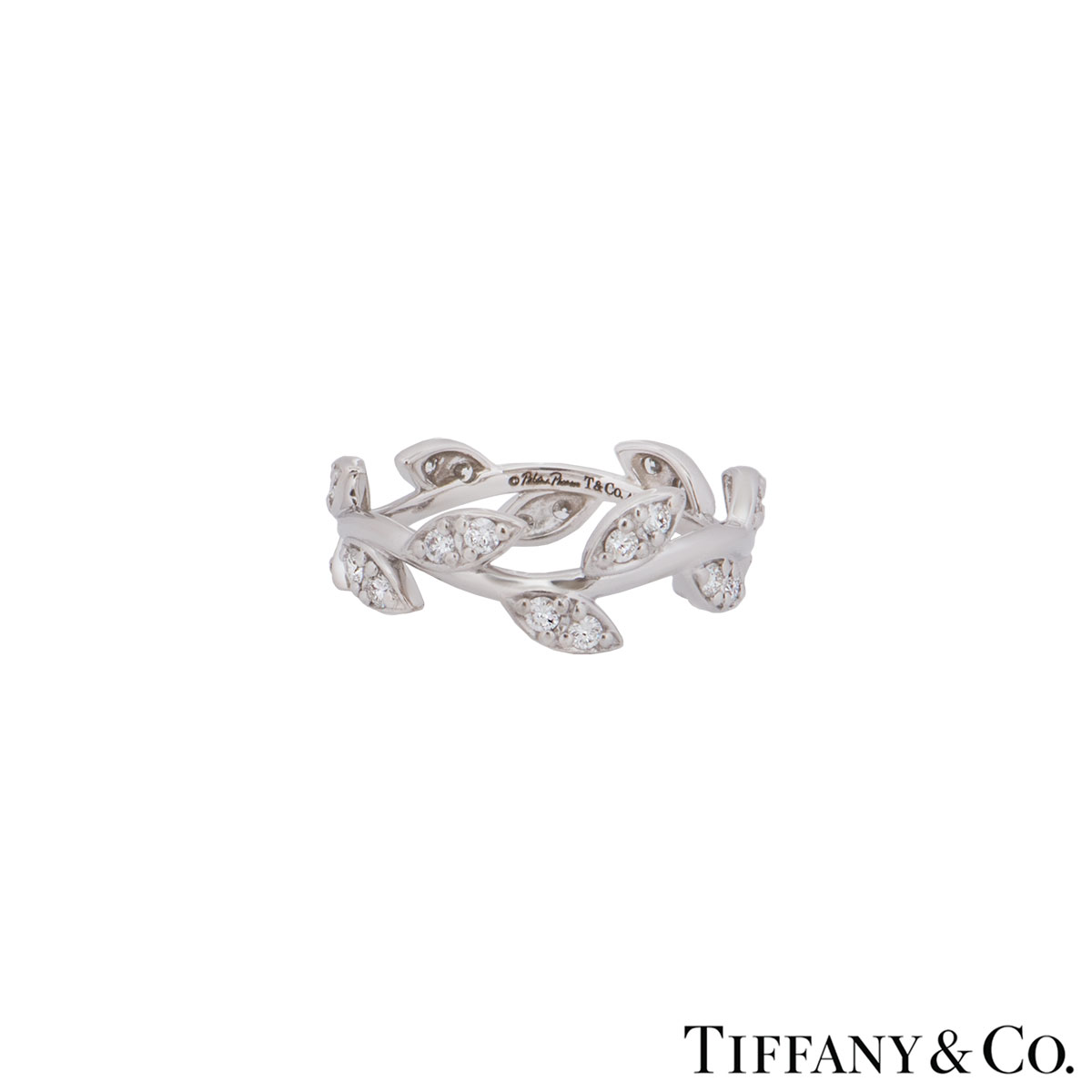 Tiffany & Co. White Gold Diamond Olive Leaf Paloma Picasso Ring